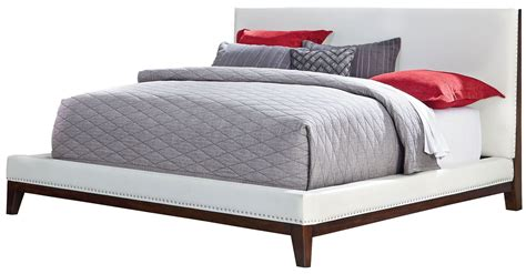 white queen platform bed couture white queen upholstered platform bed from standard