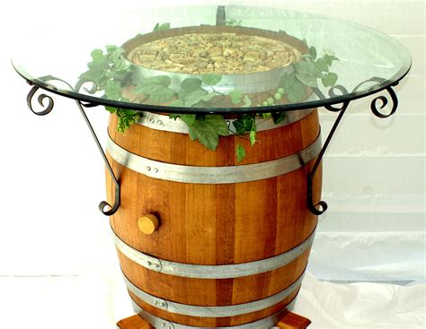 wine barrel table for sale wine barrel table with wrought iron brackets home