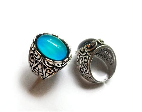 mood ring mood jewelry antique silver mood ring real