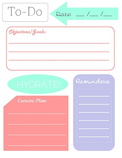 to do list printable checklist free 5 best images of printables daily planners do lists free