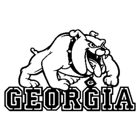 georgia bulldog coloring pages