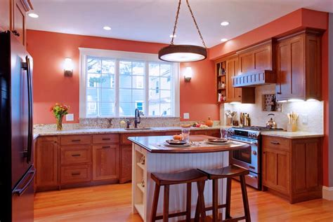 ideas for small kitchen islands decoration traditional orange kitchen with small kitchen island ideas and tile floor designs