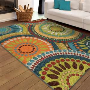 bright multi colored area rugs orian rugs bright colors circles pinwheel multi area rug