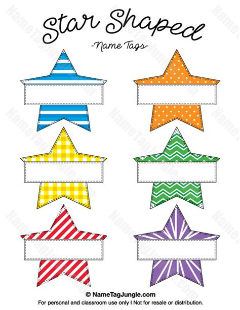printable star tags printable star shaped name tags