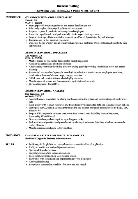 payroll specialist cover letter qa qc resume sle associate producer sle resume what