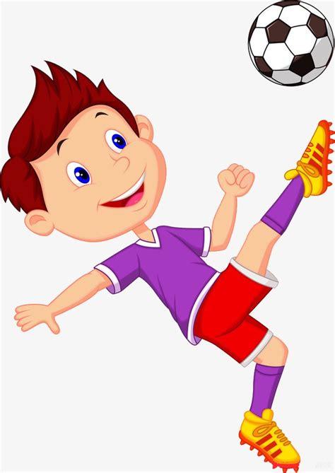 hombre de dibujos animados jugar futbol vector de stock ni 241 o jugando al f 250 tbol ni 241 o jugando al f 250 tbol personaje