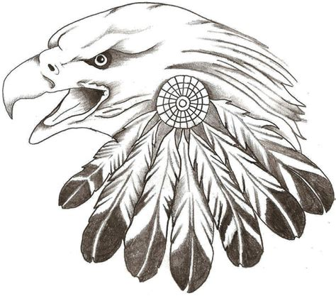 tribal eagle tattoo meaning indian coloring pages