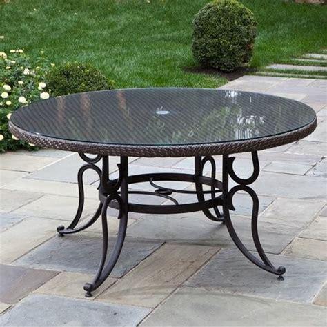 60 patio table alfresco home vento all weather wicker 60 in patio