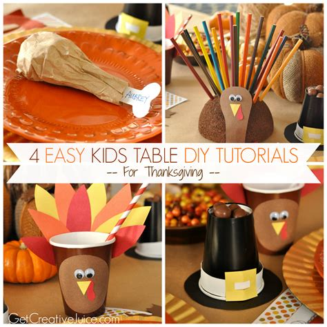 thanksgiving diy table easy diy kids thanksgiving table ideas creative juice