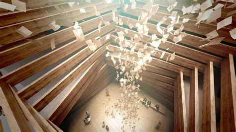 timber architecture kengo kuma s turkish art museum is made of stacked timber