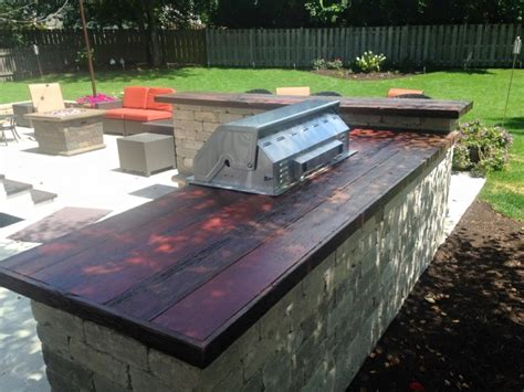 outdoor bar top built in outdoor grill and bar with barn wood counter top