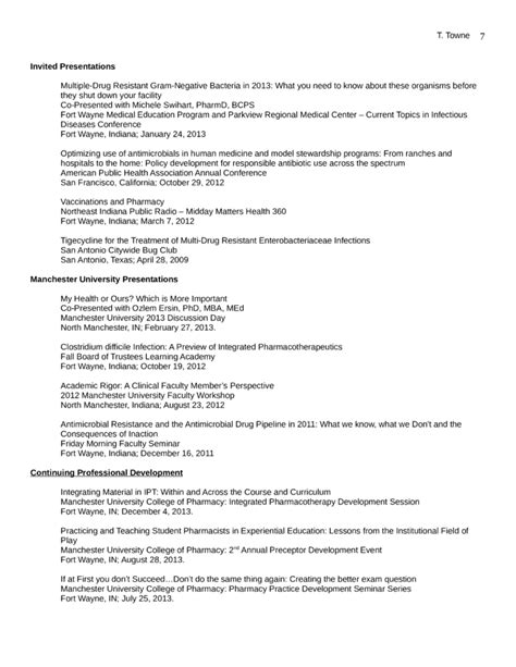 Best Pharmacist Resume by Best Pharmacist Resume Template Page 7
