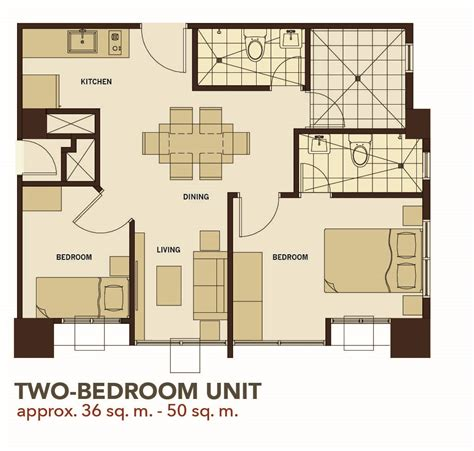2 bedroom unit floor plans the midpoint residences mandaue cebu provest condos house and lot for sale
