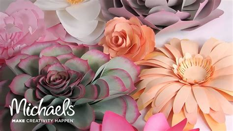 Make Your Own Paper Flowers - make your own paper flowers with sizzix