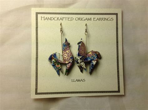 Origami Llama - origami llama origami earrings llamas and