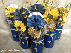 blue and gold decorations jenkins kid farm blue and gold banquet centerpiece
