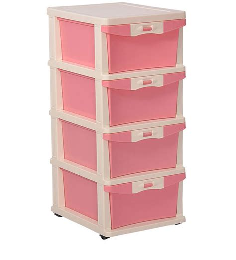 Nilkamal Plastic Drawers freedom chester 24 with four drawers opaque by nilkamal
