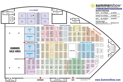 los angeles convention center floor plan summer show fino visual communication