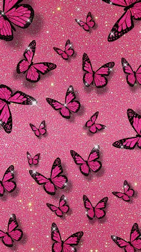 pink glitter butterfly background   butterfly