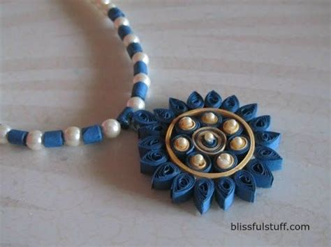 paper quilling necklace tutorial diy quilled paper necklace easy paper quilling