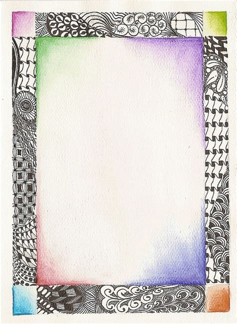 doodle pattern frame 85 best images about zentangle 174 borders on pinterest