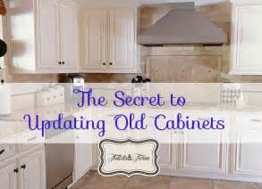updating 80 s builder grade kitchen cabinets tidbits twine - kitchen updates