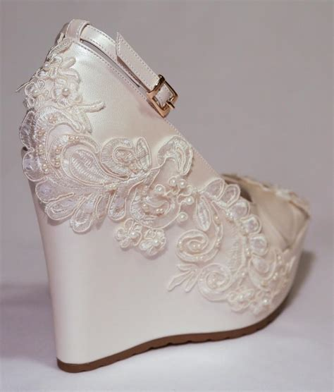 Ivory Wedding Wedges by Wedding Wedding Wedge Shoes Bridal Wedge Shoes Bridal