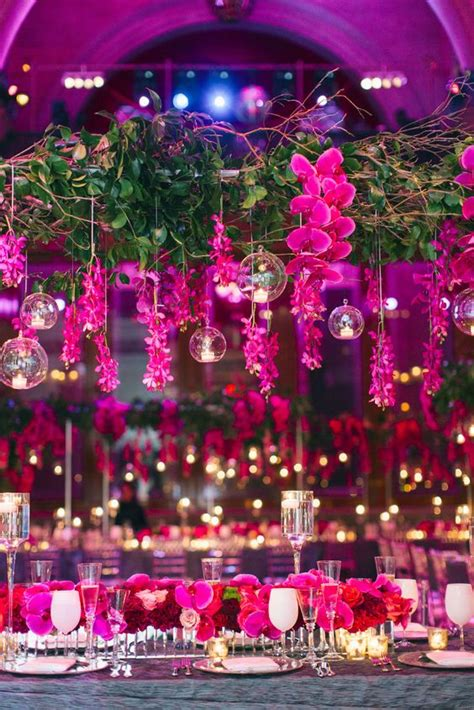 fuchsia hot pink wedding color ideas deer pearl flowers