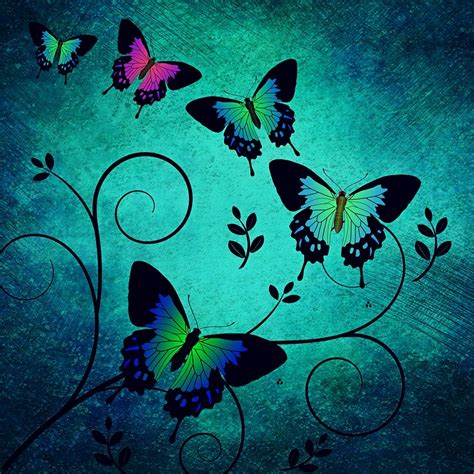 butterflies background free illustration texture butterflies background free