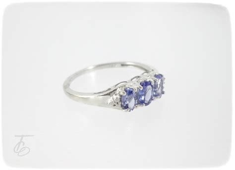 tanzanite sterling silver ring size 7 25
