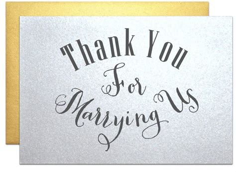 Wedding Card Note by Minister Priest Rabbi Thank You Note Wedding Cards Thank