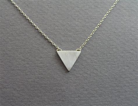 Triangle Pendant Necklace triangle necklace pendant geometric jewelry sterling