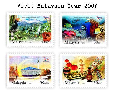 Visit Malaysia 2007 Promotional by Pos Sabah