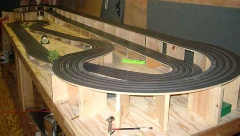 ho slot car racing routed wooden track cucina