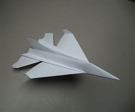 how to fold an origami f 16 plane