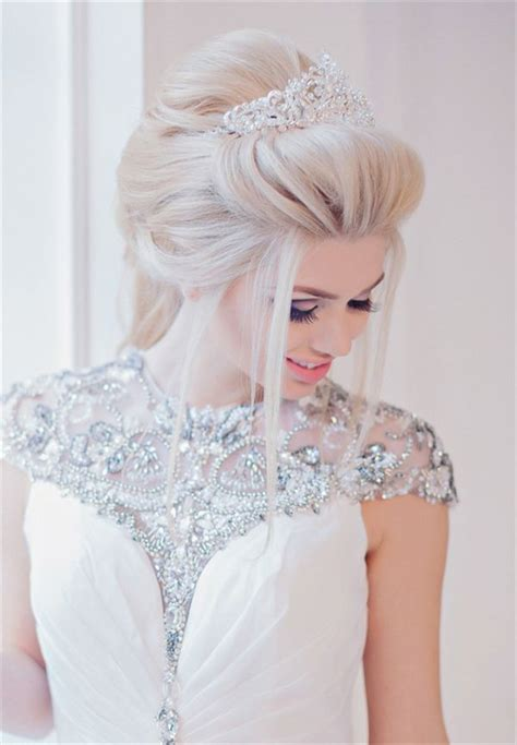 bridal hairstyles for relaxed hair 20 wedding hairstyles with tiara ideas stylish weddings
