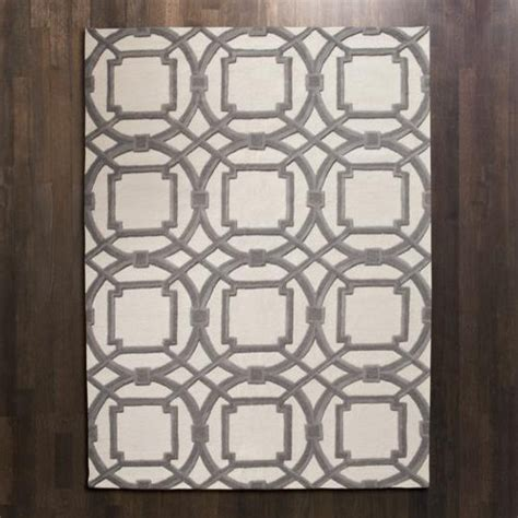 global views rug global views grey ivory arabesque rug modern rugs by candelabra
