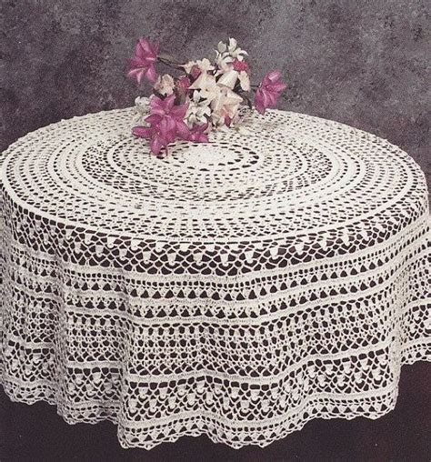 pattern crochet round tablecloth round tablecloth crochet pattern pdf instant download