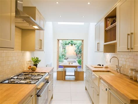 14 easy ways to make a small kitchen look bigger narrow kitchen idea for minimalist house 4 home ideas