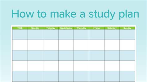 Studyclix Study Plan Template