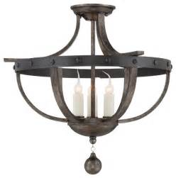savoy alsace semi flush light rustic flush mount