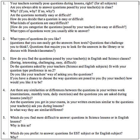 apa format interview appendices
