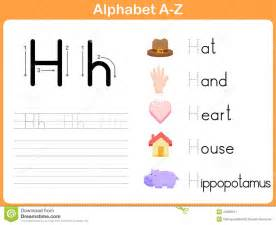 alphabet tracing worksheet stock vector image 44028511