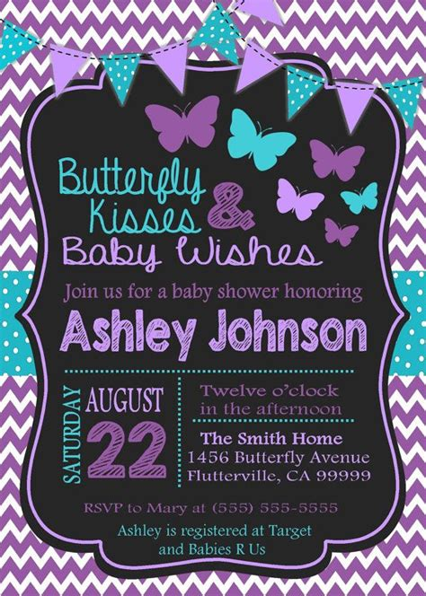 Baby Shower Hers by Purple And Teal Baby Shower Invitations Purple And Teal