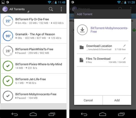 bittorrent android apk bittorrent 174 for android torrents directly at your device
