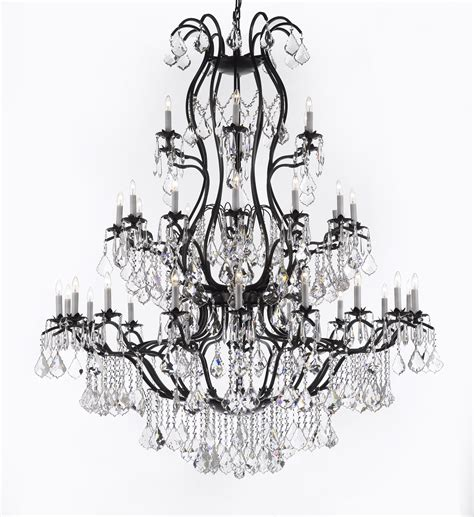 gallery lighting sm 604 3 swarovski trimmed chandelier chandeliers