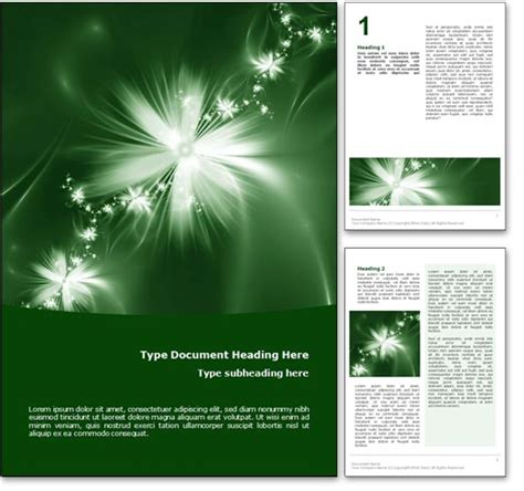nature templates for word royalty free digital garden microsoft word template in green