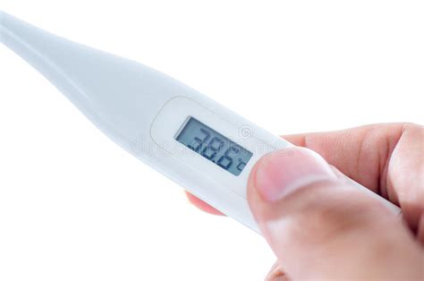 Had A High Fever Traveled With A by Thermometer Stock Photo Image 40168960