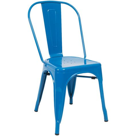 Blue Bistro Chairs Blue Bistro Style Metal Chair