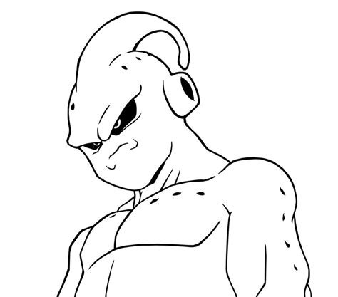 Kid Buu Coloring Pages majin buu coloring coloring pages